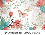 creative illustration and... | Shutterstock . vector #390244141
