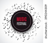 abstract musical concert flyer... | Shutterstock .eps vector #390244309