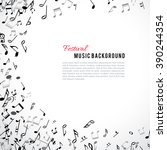abstract musical frame and... | Shutterstock .eps vector #390244354