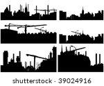 city skyline illustration | Shutterstock .eps vector #39024916