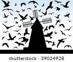 illustration of birds and... | Shutterstock .eps vector #39024928