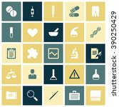 flat design icons for medical...