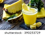 Pineapple Smoothie With Fresh...