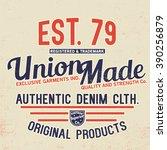vintage typo tee print design | Shutterstock .eps vector #390256879