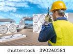 hvac  heating  ventilating  air ...   Shutterstock . vector #390260581