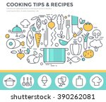 cooking tips and recipes... | Shutterstock .eps vector #390262081