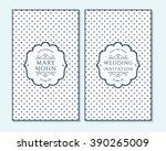 wedding invitation  thank you... | Shutterstock .eps vector #390265009