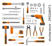 modern mechanic diy tools set... | Shutterstock .eps vector #390268471