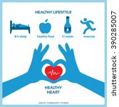 healthy lifestyle for healthy... | Shutterstock .eps vector #390285007