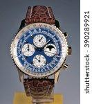 luxury watch on  studio... | Shutterstock . vector #390289921