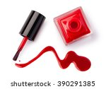 nail polish flowing from the... | Shutterstock . vector #390291385