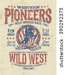 Western Pioneers Rodeo  Vector...
