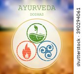 ayurveda vector illustration.... | Shutterstock .eps vector #390294061
