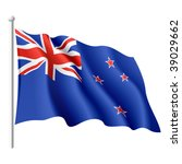 flag of new zealand. vector... | Shutterstock .eps vector #39029662
