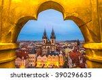 Prague  Tyn Church And Old Tow...