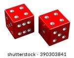 pair of dice   hard eight ... | Shutterstock . vector #390303841