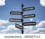 crossroad signpost saying... | Shutterstock . vector #390307111
