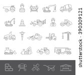 line icons   construction | Shutterstock .eps vector #390309121
