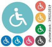 flat disability icon set on...