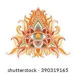 watercolor all seeing eye... | Shutterstock . vector #390319165