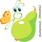 image. caterpillar on pear... | Shutterstock . vector #39032812