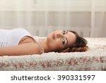 lesbian play two beautiful... | Shutterstock . vector #390331597