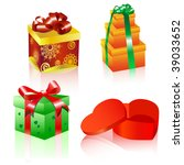 set of colorful vector gift...   Shutterstock .eps vector #39033652