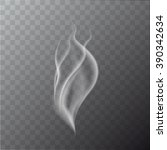 vector isolated realistic smoke ... | Shutterstock .eps vector #390342634
