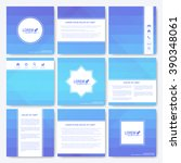 blue set of brochure. square... | Shutterstock .eps vector #390348061
