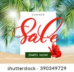 summer sale concept. summer... | Shutterstock .eps vector #390349729