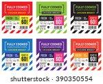 chicken breast meat label. | Shutterstock .eps vector #390350554