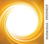 vector light ocher whirl ripple ... | Shutterstock .eps vector #390354019