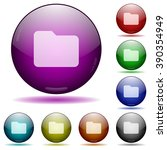 set of color folder glass...