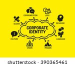 corporate identity. chart with... | Shutterstock .eps vector #390365461
