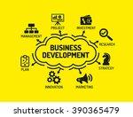 business development. chart... | Shutterstock .eps vector #390365479