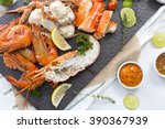 Seafood Dish Of Lobster  Prawn...