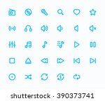 music outline vector icons. 29...
