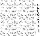 vector monochrome shoe pattern. ...   Shutterstock .eps vector #390374929