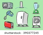 kitchen appliances drawing icon ... | Shutterstock .eps vector #390377245