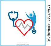red heart healthy human icon... | Shutterstock .eps vector #390379621