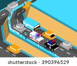 beautiful isometric design of... | Shutterstock .eps vector #390396529
