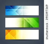 abstract colorful web header... | Shutterstock .eps vector #390397369