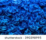 background of blue flowers made ... | Shutterstock . vector #390398995