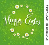 easter festive green background ... | Shutterstock .eps vector #390402661
