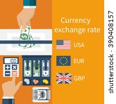 foreign exchange. vector... | Shutterstock .eps vector #390408157