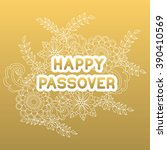 happy passover. greeting card.... | Shutterstock .eps vector #390410569