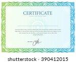 certificate. template diplomas  ... | Shutterstock .eps vector #390412015