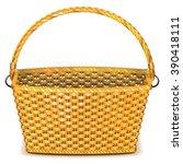vector wicker basket | Shutterstock .eps vector #390418111