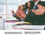 business applause. group of... | Shutterstock . vector #390424999