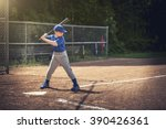 boy waiting for the ball in a... | Shutterstock . vector #390426361